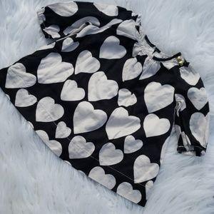 Baby Gap Black and White Heart Dress